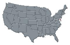 Grayed map of the United States of America